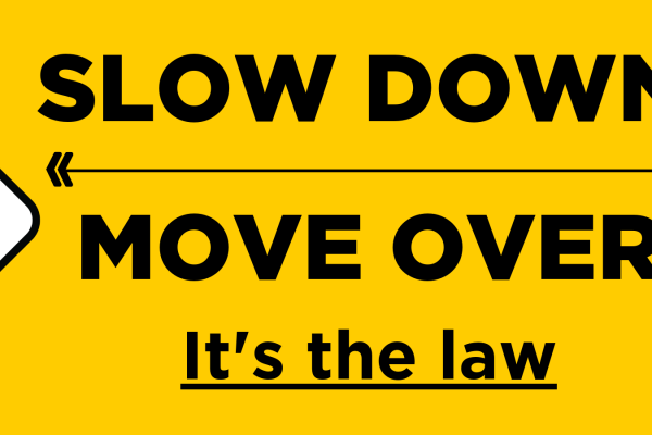 The importance of slowing down and moving over